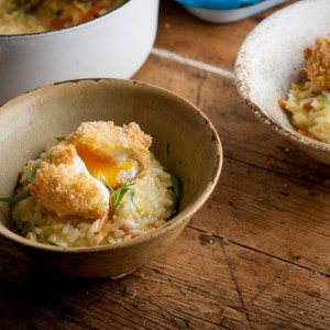 Bubble and squeak risotto