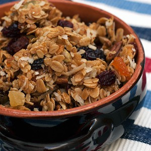 Homemade Granola with Nuts, Seeds and Dried Fruit