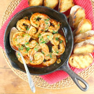Gambas al Ajillo - Spanish Garlic Shrimp Tapas