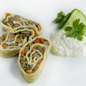 Oromo Kyrgyz Stuffed Pasta Roll