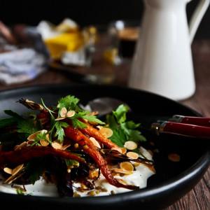 Autumnal Roast Carrot Salad