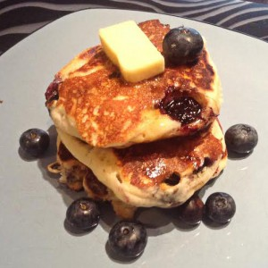 Mini Blueberry and Grape Pancakes